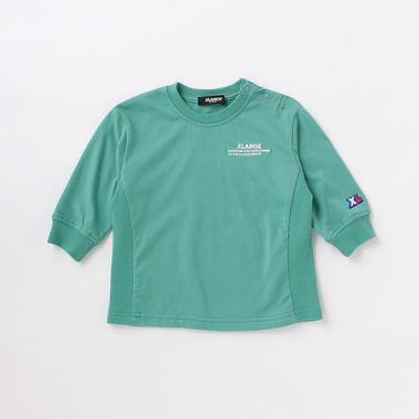 刺しゅうロゴビックシルエット長袖Tシャツ