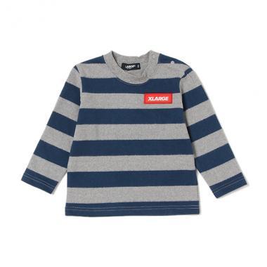 【50%OFF】ロゴワッペンつきボーダーTシャツ