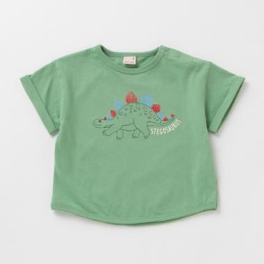 恐竜刺しゅうTシャツ