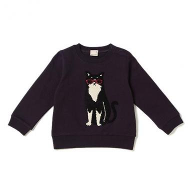 Sunglasses Cat Sagara embroidery fleece trainer