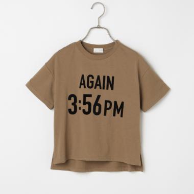 AGAINプリントTシャツ