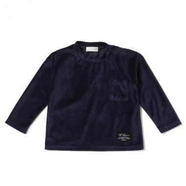 【50%OFF】胸ポケットつきベロアTシャツ