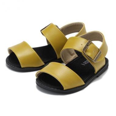 Fake leather sandals