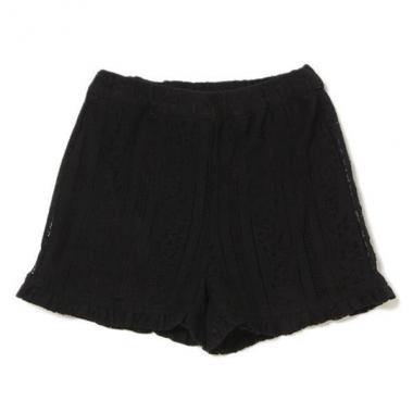 荷葉邊下擺蕾絲短褲