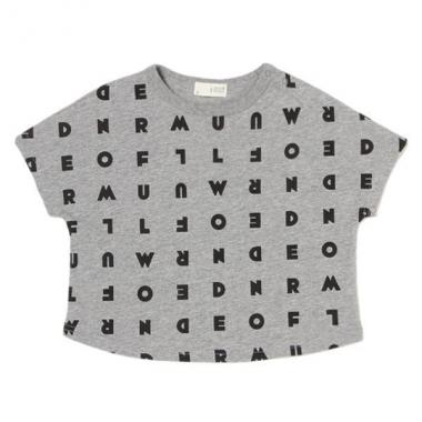 Alphabet total handle wide T-shirt