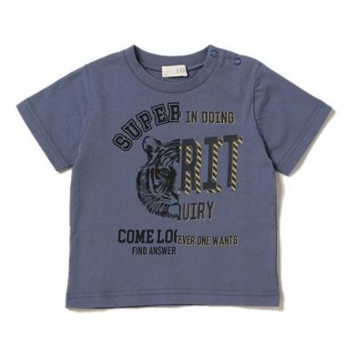 デザイン切り返しプリントTシャツ