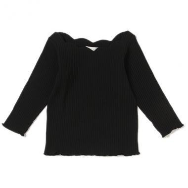 テレコスカラップ衿Tシャツ
