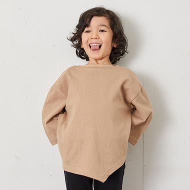 バックプリント変形7分袖Tシャツ【PTPR】