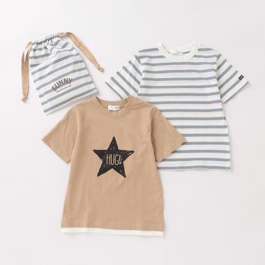 巾着付き半袖Tシャツ2Pセット【PTPR】
