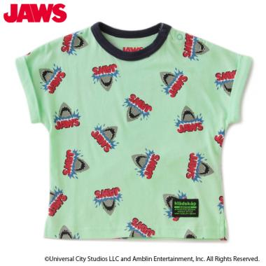【JAWS】 総柄プリントTシャツ