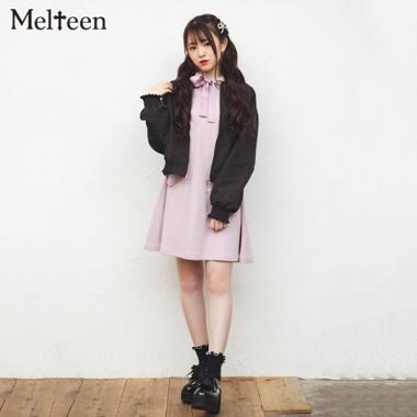 【Melteen】 バックレースアップブルゾン