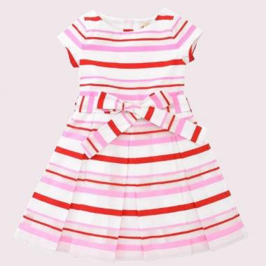 TODDLERS' MULTI STRIPE DRESS