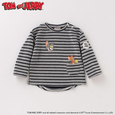 【TOM and JERRY】 裏起毛 ボーダーTシャツ