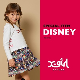 X-girl StagesからDISNEY SPECIAL ITEM 発売中!