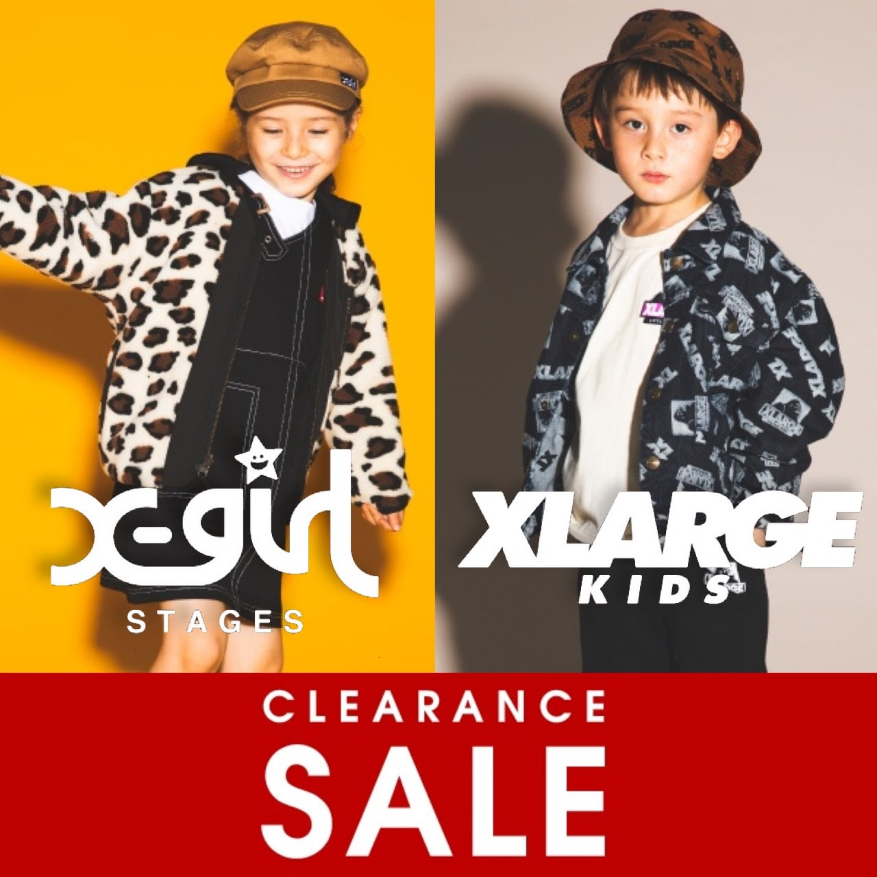 X-girl Stages・XLARGE KIDS クリアランスセールスタート!